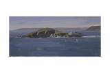 Burgh Island, September Giclee Print by Tom Hughes