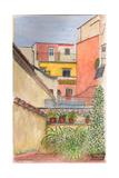 Terrace, Rome, Italy, 2012 Reproduction procédé giclée par Anthony Butera