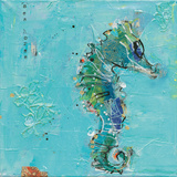 Little Seahorse Blue Prints by Kellie Day