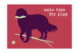Time For Play - Red Version Art par  Dog is Good