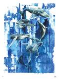 鯨 限定版アートプリント : ローラ・ゾンビ
