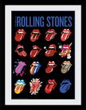 Rolling Stones- Tongues Reproduction encadrée pour collectionneurs