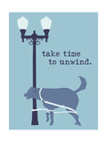 Unwind - Blue Version Premium Giclee-trykk av  Dog is Good