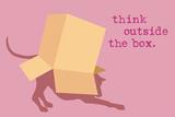 Outside Box - Pink Version Signe en plastique rigide par  Dog is Good