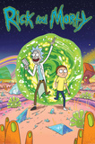 Rick And Morty- Through The Portal Plakat