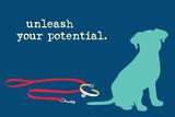 Unleash - Blue Version Signe en plastique rigide par  Dog is Good