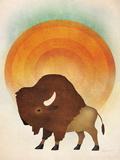Blazing Sun Bison Julisteet tekijänä Ryan Fowler