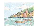 Portofino I Premium Giclee Print by Anne Tavoletti