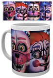 Five Nights at Freddy's - Sister Location Faces Mug Tazza