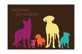 Diversity - Darker Version Kunstdrucke von  Dog is Good
