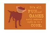Fun And Games - Orange Version Affiches par  Dog is Good