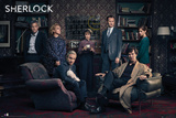 Sherlock- Cast Assembled Posters
