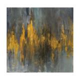 Black and Gold Abstract Kunstdruck von Danhui Nai