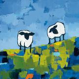Two Sheep Posters van Phyllis Adams