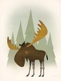 Forest Moose Posters tekijänä Ryan Fowler