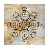 Saffron Mandala I Crop Premium Giclee Print by Melissa Averinos