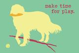Time For Play - Green Version Signe en plastique rigide par  Dog is Good