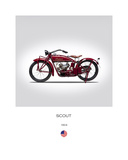 Indian Scout 1924 Giclée-vedos tekijänä Mark Rogan