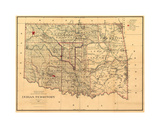 Indian Territory-1887 Giclée-tryk af Bill Cannon