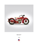 Indian Scout 101 1929 Giclée-vedos tekijänä Mark Rogan