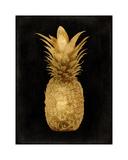 Gold Pineapple on Black I Giclee Print by Kate Bennett