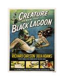 O Monstro da Lagoa Negra Impressão giclée