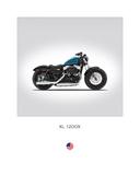 Harley Davidson XL 1200X Forty Reproduction procédé giclée par Mark Rogan