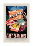 First Exoplanet Giclée-tryk af JPL