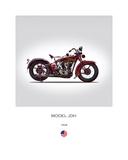 Harley Davidson Model JDH 1928 Reproduction procédé giclée par Mark Rogan