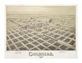 Childress, TX - 1890 Giclee Print by Dan Sproul