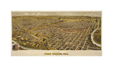 Fort Worth, TX 1891 Giclee Print by Dan Sproul