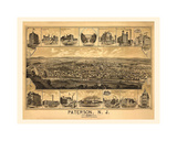 Paterson, NJ-1880 Giclee Print by Dan Sproul