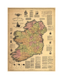 Home Rule Map of Ireland Giclee Print by Dan Sproul