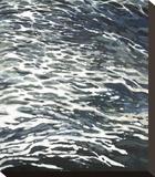 Rough Wake in Gray Trykk på strukket lerret av Margaret Juul