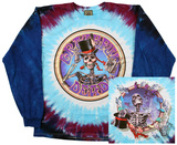 Long Sleeve: Grateful Dead- Queen Of Spades (Front/Back) T-shirt a maniche lunghe