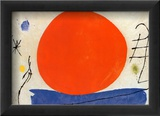 Punainen aurinko Juliste tekijänä Joan Miró