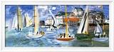 Regates Dans le Port de Trouville Posters by Raoul Dufy
