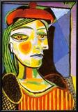 Girl with Red Beret Kunstdrucke von Pablo Picasso