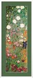 Blühender Garten mit Pfad (Detail) Kunstdruck von Gustav Klimt