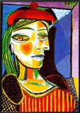 Girl with Red Beret Poster von Pablo Picasso