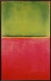 Groen en Rood op Oranje Posters van Mark Rothko