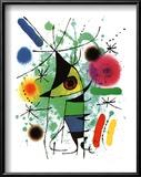 The Singing Fish Print by Joan Miró