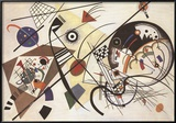 Durchgehender Strich Pósters por Wassily Kandinsky