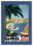 Bandol Hiver Ete Poster by Roger Broders