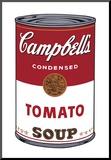 Campbell's Suppe I: Tomate, ca. 1968 Druck aufgezogen auf Holzplatte von Andy Warhol