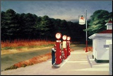 Gas, 1940 Mounted Print by Edward Hopper