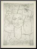 Portrait of Francoise, dressed... Druck aufgezogen auf Holzplatte von Pablo Picasso