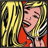 Girl in Mirror, c.1963 Print van Roy Lichtenstein