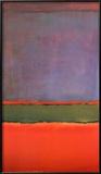 Nr 6, violett, grön och röd, 1951 Poster av Mark Rothko