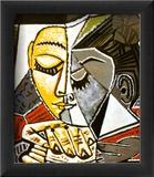 Kopf einer lesenden Frau|Tete d'une Femme Lisant Kunstdruck von Pablo Picasso